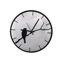Relógio Prata com passarinho decoração Sala Cozinha - Az Design