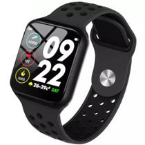 Relógio Pulseira Inteligente F9 SmartWatch Monitor Cardíaco Pressão Arterial Preto - Lx