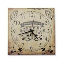 Relógio Quadrado Beer - Tecnolaser