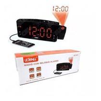 Relógio Rádio Despertador Lelong Le-672 Fm Usb com Projetor de Horas -