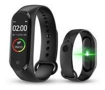 Relogio RTSM4 Smartwatch Pulseira Inteligente Smartband Medidor Cardíaco Esportes -