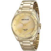 Relógio Seculus Analógico Feminino Dourado 20388lpsvda1 -