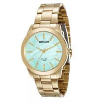 Relógio Seculus Analógico Feminino Dourado 20389lpsgda3 -