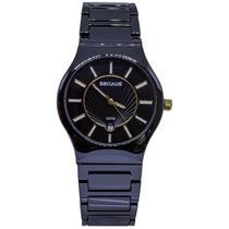Relógio Seculus Cerâmica Preto Unissex 20449L0SVNQ1 -