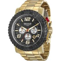 Relógio Seculus Chronograph Masculino 28674gpsvda1 -