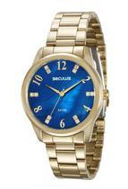 Relogio seculus feminino 20507lpsvds1 azul -