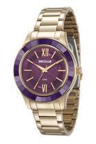 Relógio seculus feminino 23559lpsvds4 dourado -