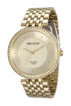 Relógio seculus feminino 28778lpsvda1 dourado -