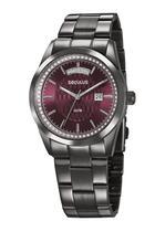 Relógio Seculus Feminino  35002LPSVSS4 Preto -