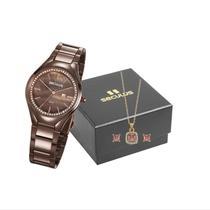 Relógio Seculus Feminino 77044LPSVMS2K1 Marrom - Mondaine