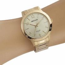 Relógio Seculus Feminino Analógico 20887LPSVDA2 Dourado -