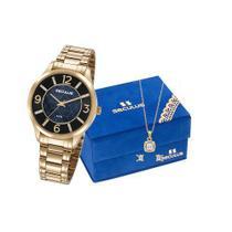 Relógio Seculus Feminino Analógico 23621LPSVDS1K1 + Colar e Brincos - Seculuas