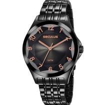 Relógio Seculus Feminino Analógico Preto 23602LPSVPS7 -