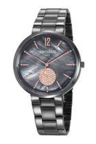 Relógio Seculus Feminino Analógico Preto 77022LPSVSS3 -