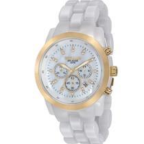 Relógio Seculus Feminino Branco Aplause 20628LPSVDF3 -