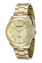 Relógio seculus feminino dourado 20389lpsgda2 -
