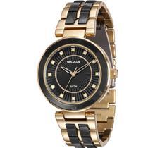 Relógio Seculus Feminino Dourado 20410LPSVDF4 -