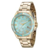 Relógio seculus feminino dourado 20498lpsvds2 -