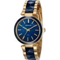 Relógio Seculus Feminino Dourado 20596LPSVDQ1 -