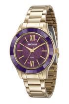 Relógio seculus feminino dourado 23559lpsvds4 -