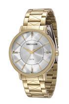 Relógio seculus feminino dourado 23580lpsvds1 -