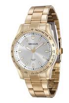 Relógio seculus feminino dourado 25541lpsvda1 -