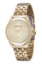 Relógio seculus feminino dourado 25544lpsvda1 -