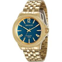 Relógio Seculus Feminino Dourado 28664Lpsvda3 -
