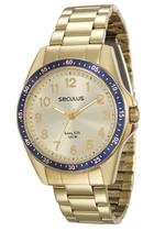 Relógio seculus feminino dourado 28732lpsgda2 -