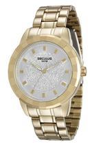 Relógio seculus feminino dourado 28733lpsvds1 -