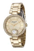 Relógio seculus feminino dourado 28830lpsvds1 -