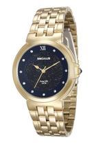 Relógio seculus feminino dourado fundo azul 23546lpsvda1 -