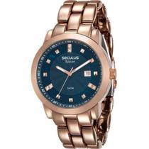 Relógio Seculus Feminino Fashion Aplause Rosê 20422LPVRA8 -