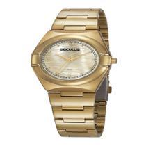 Relógio Seculus Feminino Fashion Dourado 20776LPSVDS1 -