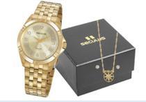 Relógio Seculus Feminino kit C/cordão Brinco 20950LPSVDA1K1 -