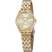 Relógio Seculus Feminino Long Life Dourado 20866LPSVDA1 -