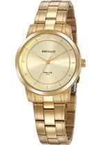 Relógio Seculus Feminino Long Life Dourado 20918lpsvda1 -