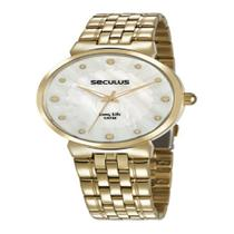 Relógio Seculus Feminino Long Life Dourado 28953LPSVDA1 -