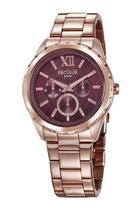 Relógio Seculus Feminino Multfunção Rosê 35004LPSVRS1 -