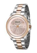 Relógio seculus feminino prata e rosé 20563lpsvgs3 -