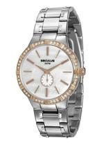 Relógio seculus feminino prata e rosé 23579lpsvgs2 -