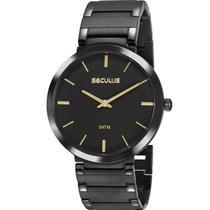 Relógio Seculus Feminino Preto 24214GPSVPA4 -