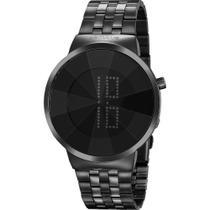 Relógio Seculus Feminino Preto 77062LPSVPS3 Digital 5 Atm Cristal Mineral Tamanho Grande -
