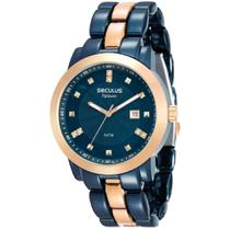 Relógio Seculus Feminino Ref: 20422lpsvla4 Fashion Azul -