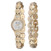 Relógio Seculus Feminino Ref: 20455lpskdb1 Mini Dourado + Pulseira -