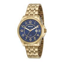 Relógio Seculus Feminino Ref: 20600lpsvds1 Social Dourado -