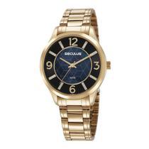 Relógio Seculus Feminino Ref: 20625lpsvds1 Casual Dourado -