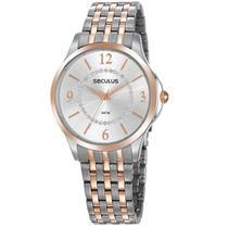 Relógio Seculus Feminino Ref: 20840lpsvgs2 Casual Bicolor -