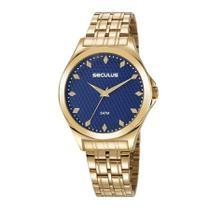 Relógio Seculus Feminino Ref: 23632lpsvds1 Casual Dourado -