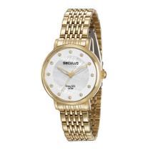 Relógio Seculus Feminino Ref: 28944lpsvda1 Casual Dourado -